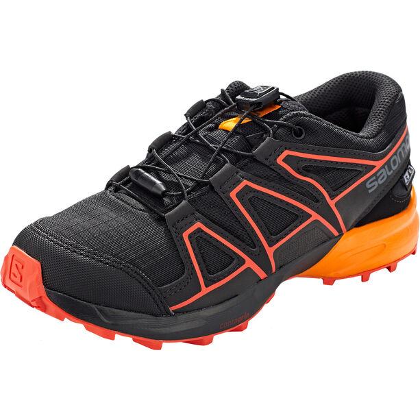 Salomon Speedcross CSWP Shoes Kinder black/tangelo/cherry tomato