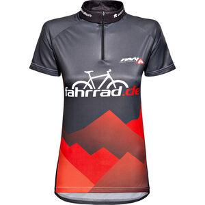 fahrrad.de Basic Team Jersey Damen schwarz/rot schwarz/rot