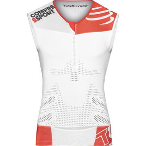 Compressport TR3 Triathlon Tank Top Unisex White