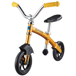 Micro G-Bike Chopper Deluxe Laufrad Kinder gelb gelb