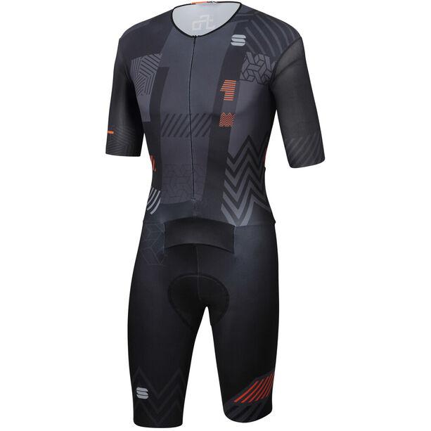 Sportful Bodyfit Pro Bomber 111 Anzug Herren black anthracite orange sdr