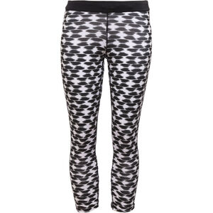 Nike Printed Relay Laufshorts Crop Damen black/refsil black/refsil