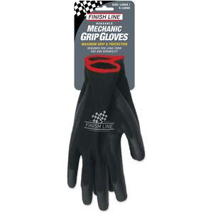 Finish Line Mechaniker-Handschuhe L/XL schwarz schwarz