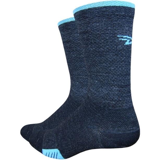 DeFeet Cyclismo Merino Socken schwarz/hellblau schwarz/hellblau