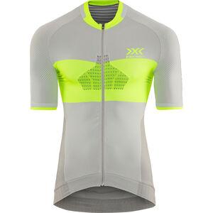 X-Bionic Invent 4.0 Bike Race Zip Jersey SH SL Herren dolomite grey/phyton yellow dolomite grey/phyton yellow
