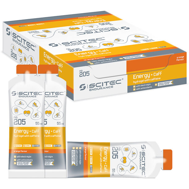 SCITEC Energy Gel+Caffeine Box 12x55ml Orange