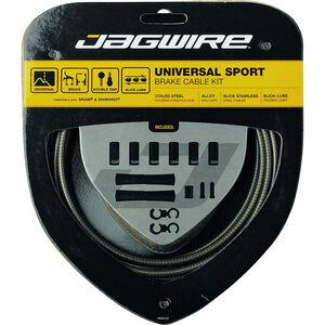 Jagwire Sport Universal Bremszugset für Shimano/SRAM carbon silber carbon silber