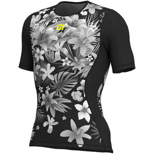 Alé Cycling Intimo Sartana SS Baselayer Herren black-yellow flou black-yellow flou