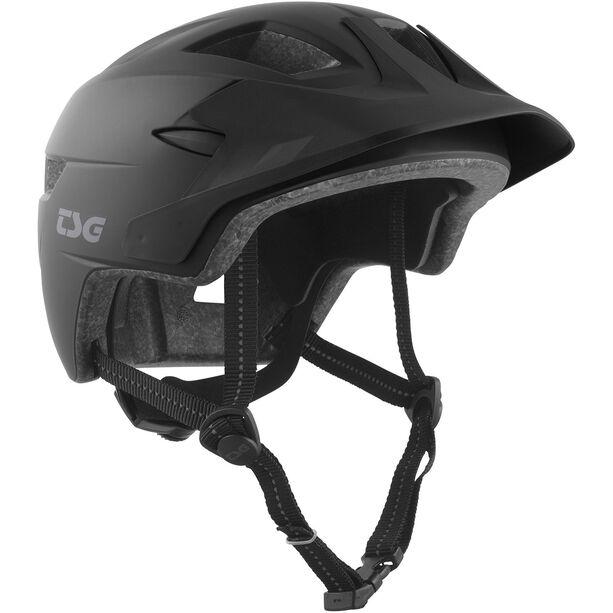 TSG Cadete Solid Color Helmet Kinder satin black