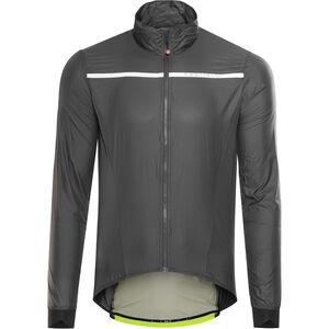 Castelli Superleggera Jacket Men anthracite/yellow fluo