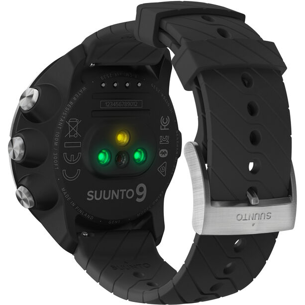 Suunto 9 G1 GPS Sportuhr mit Lederband black