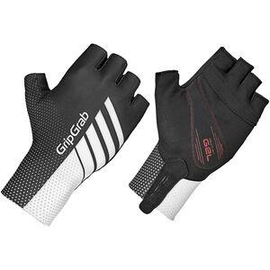 GripGrab Aero TT Raceday Short Finger Gloves black/white black/white