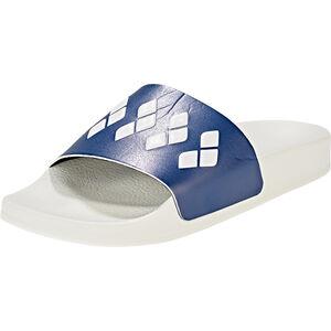 arena Team Stripe Slide Sandals Unisex white-navy-white