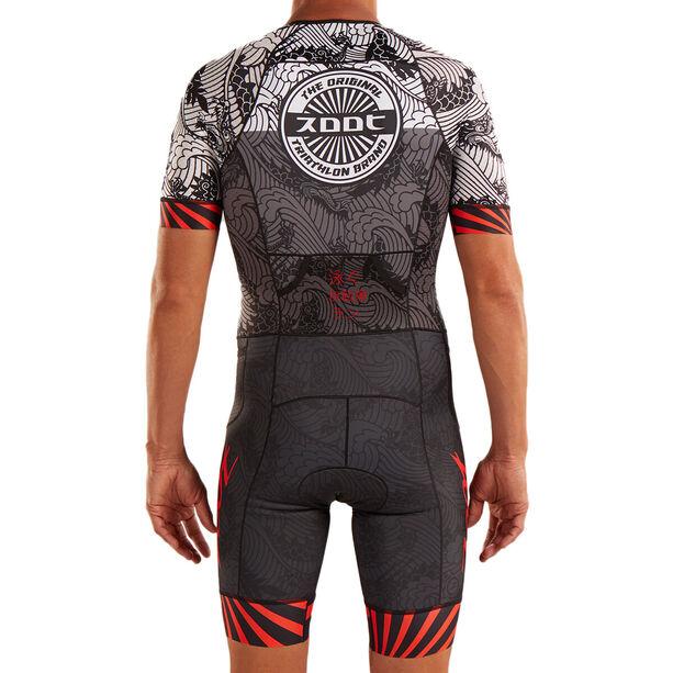 Zoot LTD Tri Aero Kurzarm Racesuit Herren tokyo red rays