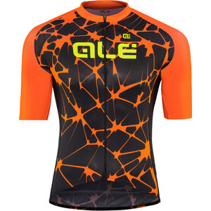 Alé Cycling Cracle Shortsleeve Jersey Herren black-flou orange-flou yellow black-flou orange-flou yellow