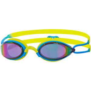 Zoggs Podium Titanium Goggles blue/lime/mirror blue/lime/mirror