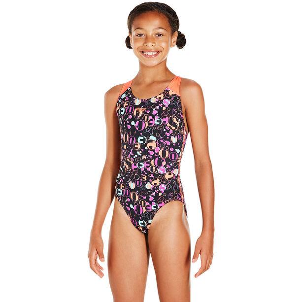 speedo Funsplash Allover Splashback Swimsuit Mädchen black-siren-diva