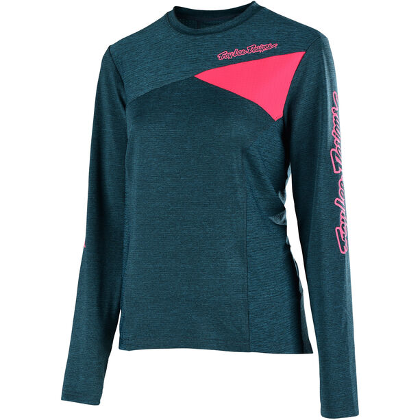 Troy Lee Designs Skyline LS Jersey Damen heather corsair/coral