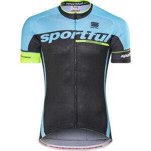 Sportful SC Team Jersey black/blue flame/green fluo