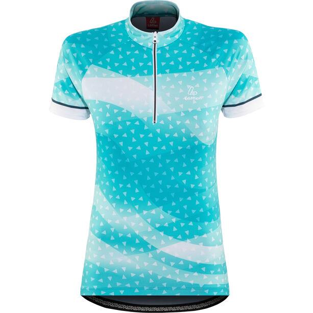 Löffler Prisma Bike Jersey Half-Zip Damen topaz blue
