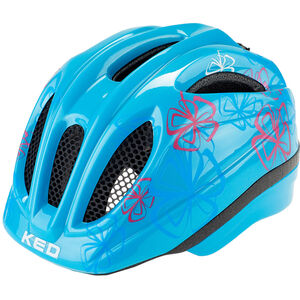 KED Meggy Trend Helmet Kinder lightblue flower lightblue flower