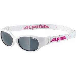 Alpina Sports Flexxy Glasses Kinder white-dots white-dots