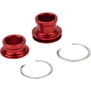 Rotor Endkappen Set 15x100mm für Vorderradnabe red red