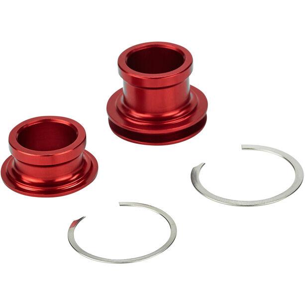 Rotor Endkappen Set 15x100mm für Vorderradnabe red
