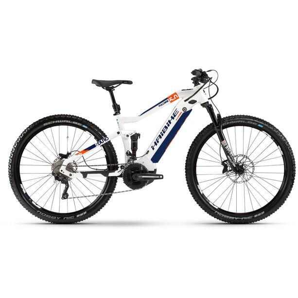 HAIBIKE SDURO FullNine 5.0 white/orange/blue