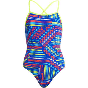 Funkita Strapped In One Piece Swimsuit Mädchen chain reaction chain reaction