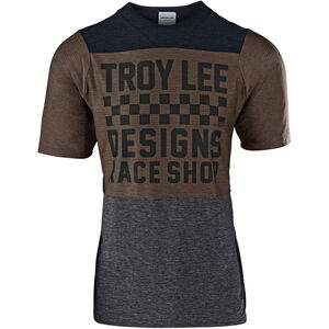Troy Lee Designs Skyline Air SS Jersey Herren checkers/heather black/heather light moka checkers/heather black/heather light moka