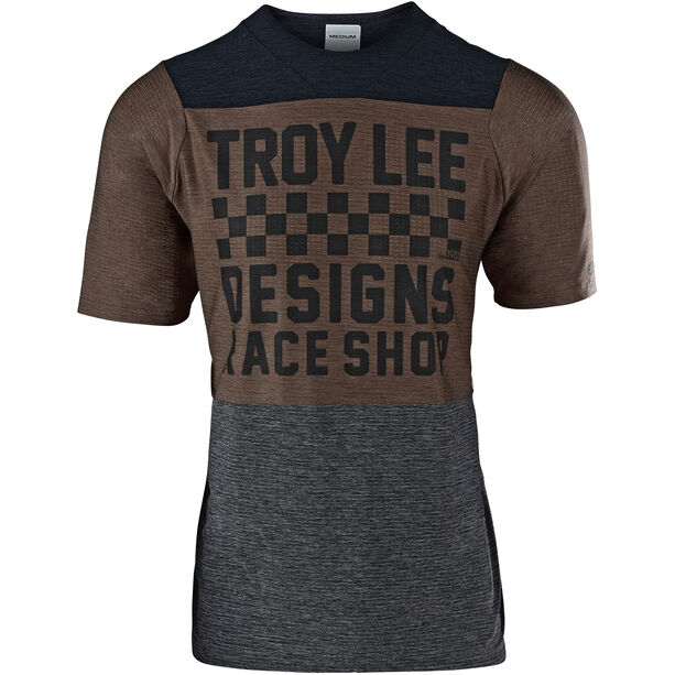Troy Lee Designs Skyline Air SS Jersey Herren checkers/heather black/heather light moka