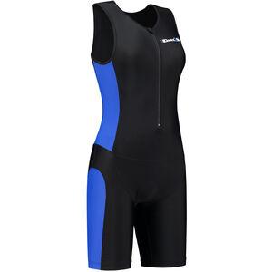 Dare2Tri Frontzip Trisuit Damen black-blue black-blue