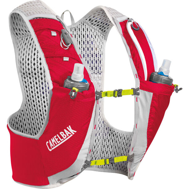 CamelBak Ultra Pro Trinkrucksack Weste with Quick Stow Flask crimson red/lime punch