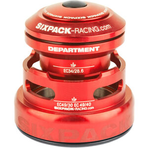 Sixpack Department 2In1 Steuersatz EC3449/28.6 I EC49/30 and EC34/28.6 I EC49/40 red red
