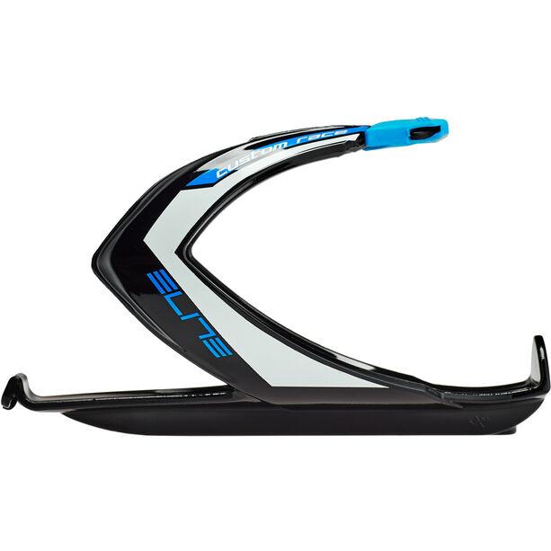Elite Custom Race Flaschenhalter schwarz/blue glänzend