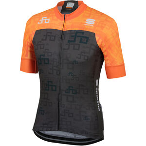 Sportful Sagan Logo Bodyfit Team Jersey Herren orange sdr-green orange sdr-green