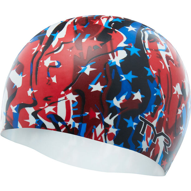 TYR Firecracker Swim Cap red/white/blue