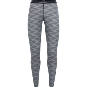 Icebreaker 200 Oasis Leggings curve black/snow