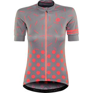 AGU Sprinkle Dot Shortsleeve Jersey Damen grey/coral grey/coral