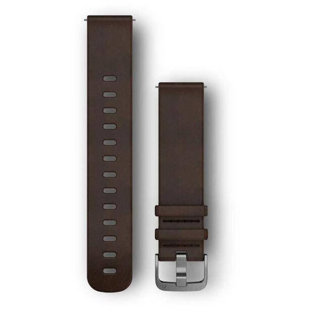 Garmin Schnellverschluss Lederband 20mm brown/silver