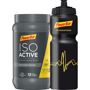 PowerBar Isoactive Bottle Onpack Promotion Aktion Lemon 600g + 1 Radflasche