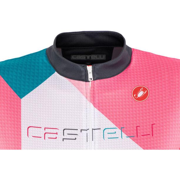 Castelli Ventata FZ Jersey Damen multicolor/tourquoise/green