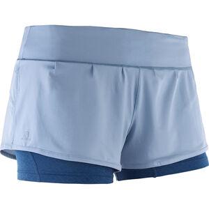 Salomon Elevate Aero Shorts Damen faded denim/poseidon faded denim/poseidon
