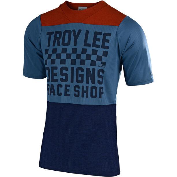 Troy Lee Designs Skyline Air SS Jersey Herren checkers/heather clay/cadet