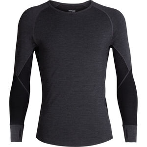 Icebreaker 260 Zone Langarm Rundhalsshirt Herren jet heather/black jet heather/black