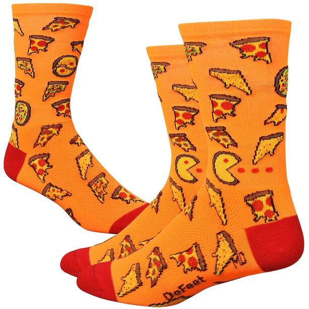 """DeFeet Aireator 6"""" Socks pizza party"""