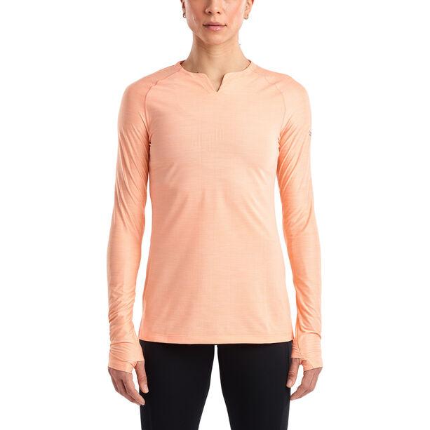 saucony Breakthru Langarm-Shirt Damen peach nectar