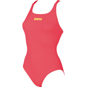 arena Solid Swim Pro One Piece Swimsuit Women fluo red-soft green