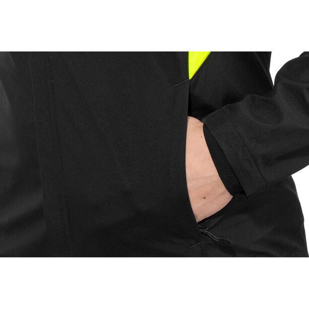 GORE WEAR R3 Partial Gore Windstopper Jacket Herren black/neon yellow